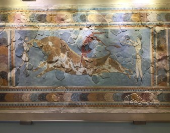 Bull Leaping Fresco, Heraklion © Brittany Castille-Webb